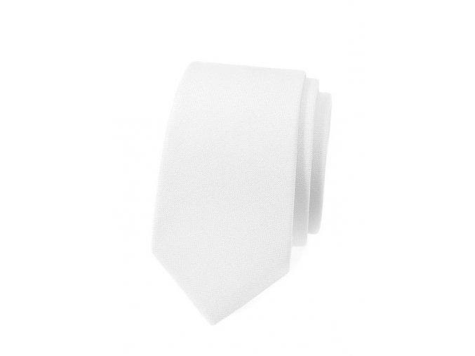 Úzká kravata Avantgard Lux - bílá