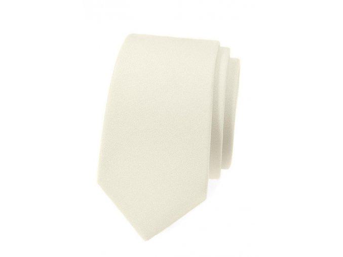 Úzká kravata Avantgard Lux - smetanová