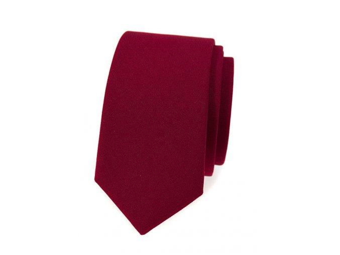 Úzká kravata Avantgard Lux - bordó