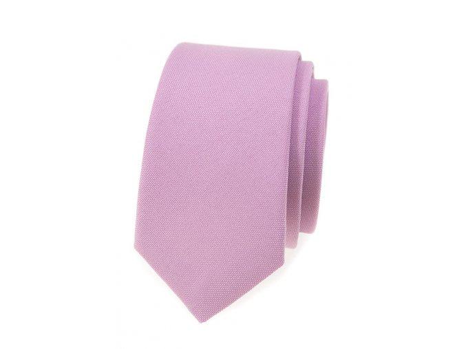 Úzká kravata Avantgard Lux - lila