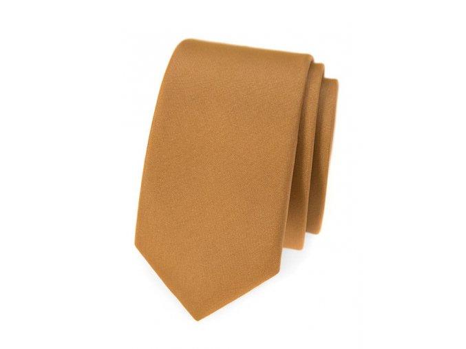 Úzká kravata Avantgard - béžová