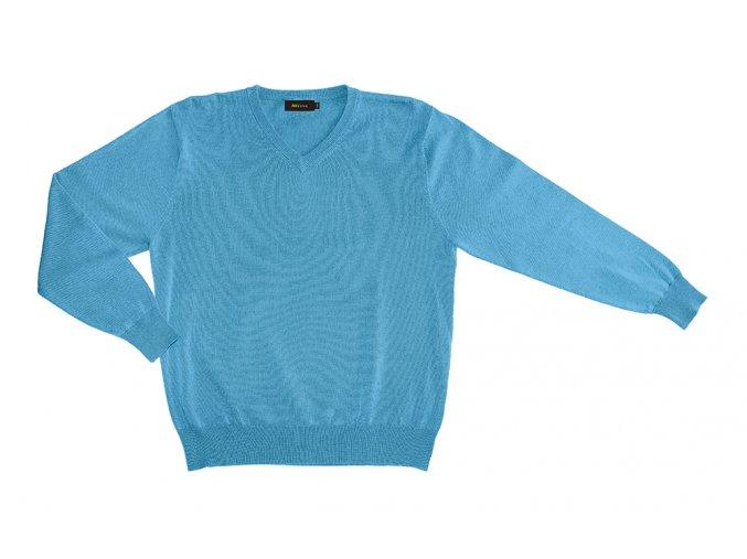 Pánský svetr AMJ Style - tyrkysový