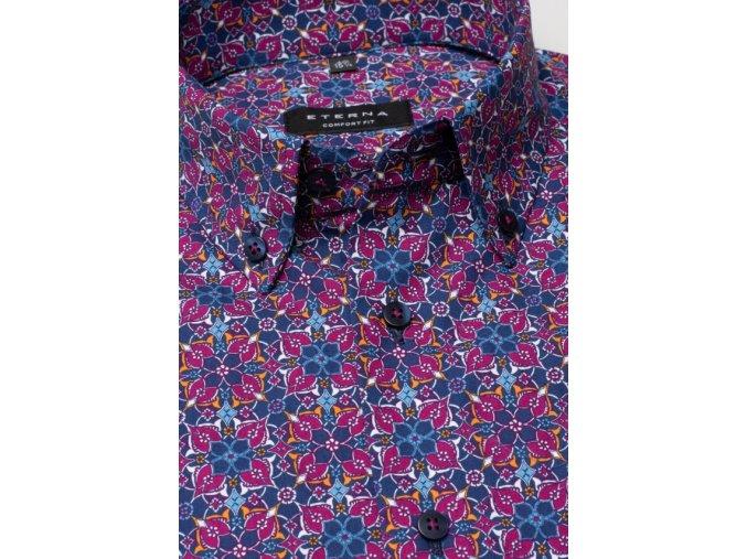 """Košile Comfort Fit """"Print"""" s krátkým rukávem Bordó / Modrá"""