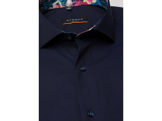 """Košile Eterna Slim Fit """"Oxford"""" s krátkým rukávem Tmavě Modrá"""