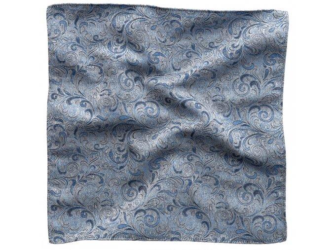 Klasický kapesníček do saka - modrošedý