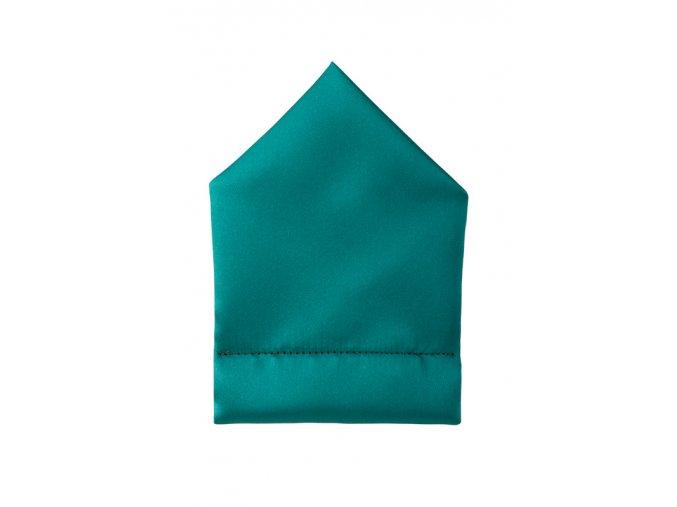 Twin kapesníček do saka - smaragdový