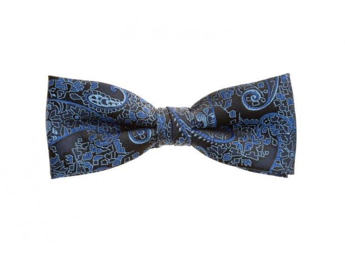 Dvojitý motýlek Brinkleys Modern s kapesníčkem - modrý