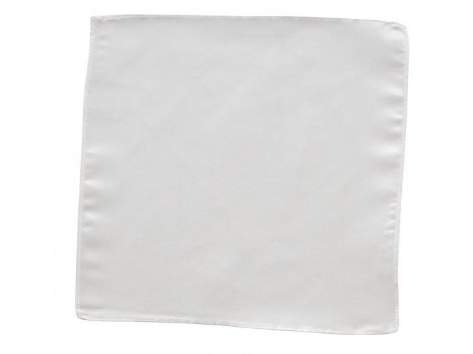Hedvábný kapesníček do saka - bílý