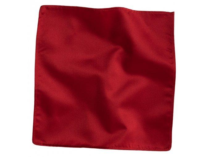 Hedvábný kapesníček do saka - červený