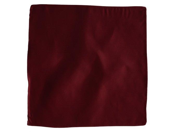 Hedvábný kapesníček do saka - marsala