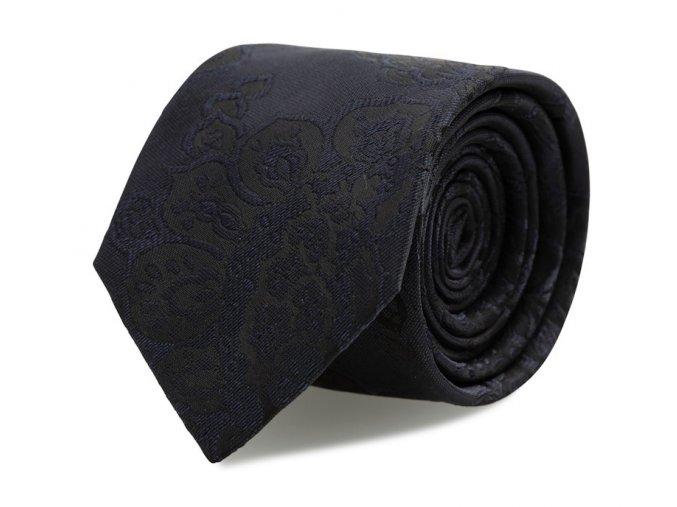 Kravata s kapesníčkem Brinkleys - černo-modrá