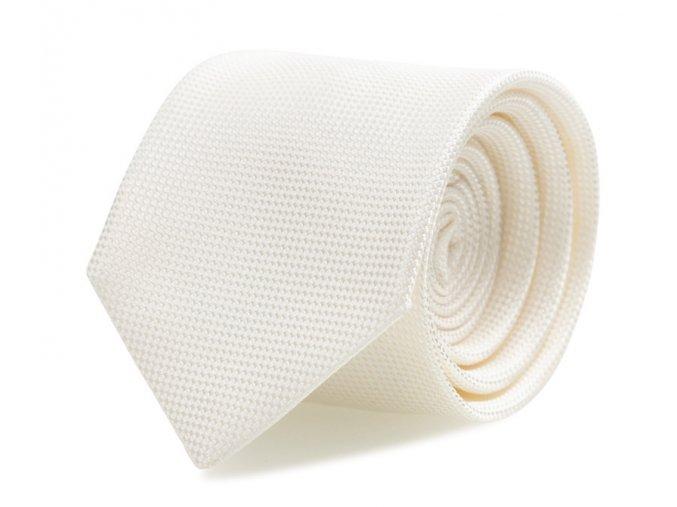 Slim kravata s kapesníčkem Brinkleys - smetanová