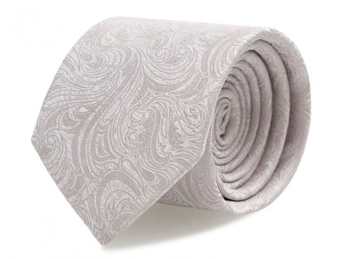 Slim kravata s kapesníčkem Brinkleys - jemně růžová