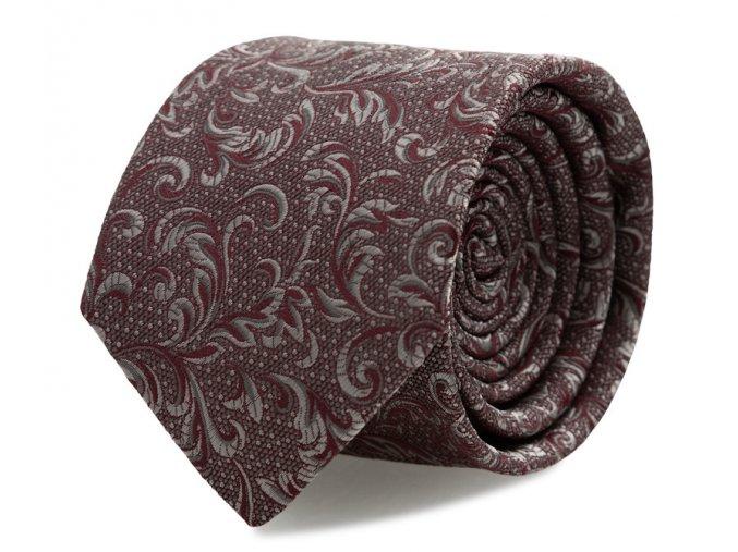 Slim kravata s kapesníčkem Brinkleys - červeno-stříbrná