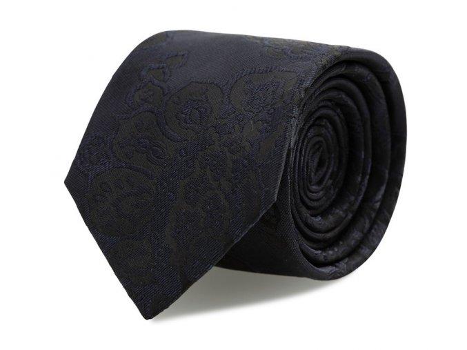 Slim kravata s kapesníčkem Brinkleys - černo-modrý