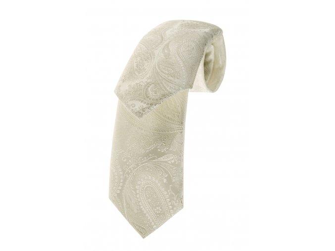 Kravata s kapesníčkem Brinkleys - smetanová