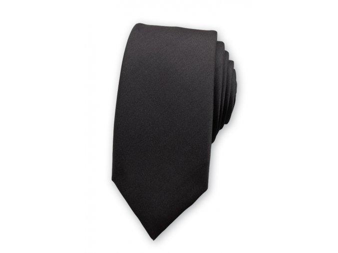 Úzká kravata Avantgard - černá