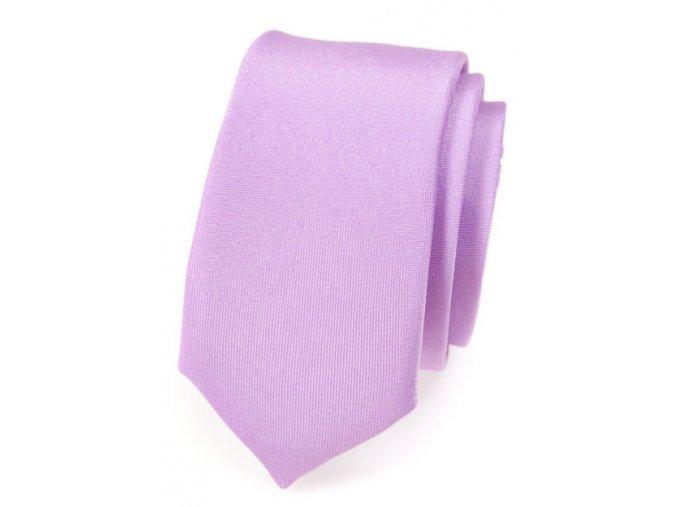 Úzká kravata Avantgard - fialová