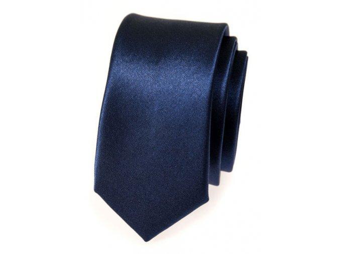 Úzká kravata Avantgard - modrá