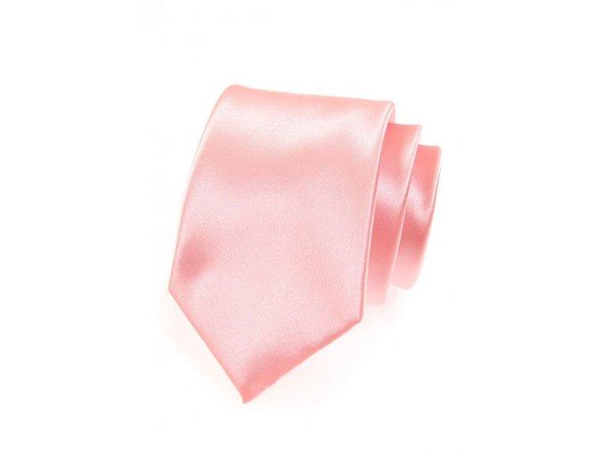 Kravata Avantgard Lux - růžová lesk
