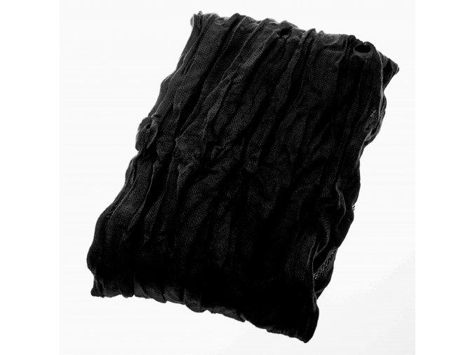Mačkaná šála Brinkleys - černá