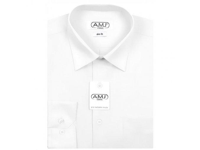 Pánská košile AMJ Classic Slim - bílá
