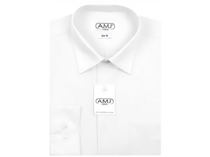 Pánská košile AMJ Slim fit  Bílá