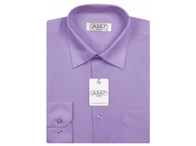 Pánská košile AMJ Comfort fit - světle fialová