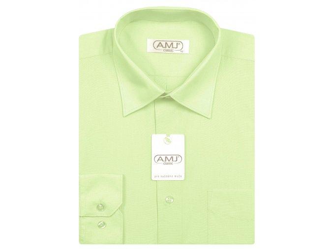 Pánská košile AMJ Comfort fit - světle zelená