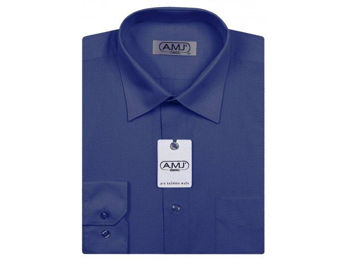 Pánská košile AMJ Comfort fit - tmavě modrá