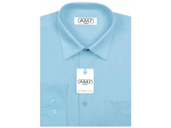 Pánská košile AMJ Comfort fit - tyrkysová