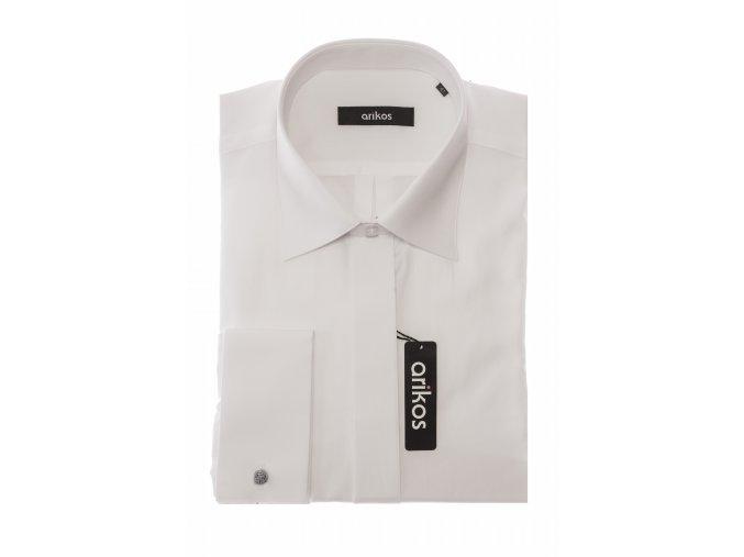 Společenská košile Arikos - hladká Bílá