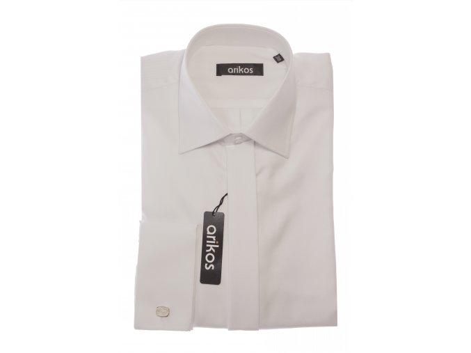 Společenská košile Arikos - dvojitá příze Bílá