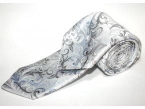 Kravata s kapesníčkem Brinkleys - šedomodrá