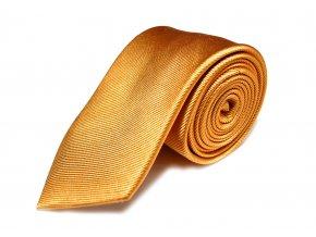 Hedvábná kravata Brinkleys - zlatý cognac