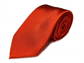 Hedvábná kravata Brinkleys - temně cihlová