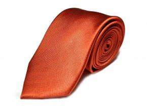 Hedvábná kravata Brinkleys - cihlová