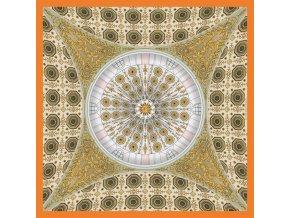 Společenský kapesníček hedvábný AARON HALES - Cupola