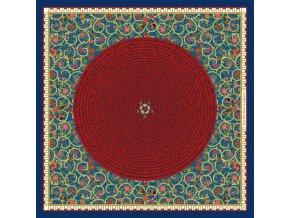 Společenský kapesníček hedvábný AARON HALES - Great globe
