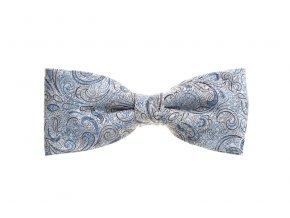 Dvojitý motýlek Brinkleys Modern s kapesníčkem - modrošedý