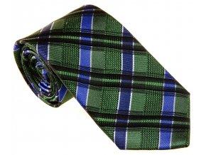 Vzorovaná kravata Le Dore - zelenomodrá