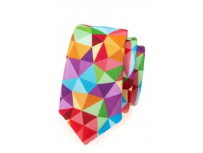 Úzká kravata Avantgard  Lux - červená