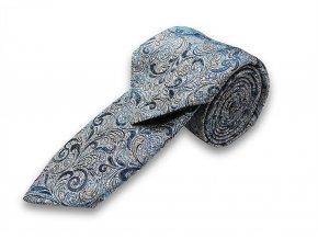Kravata s kapesníčkem Brinkleys - stříbrnomodrá