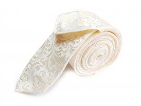 Úzká kravata s kapesníčkem Brinkleys - ivory