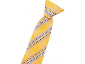 Chlapecká kravata Avantgard - žlutá