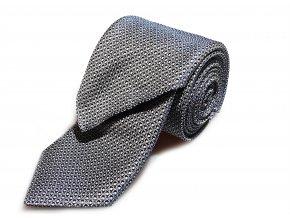Kravata s kapesníčkem  Brinkleys - černobílá