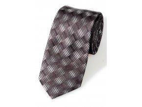 Úzká kravata Pure - černošedá