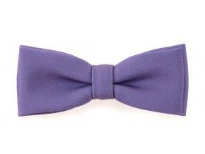 Dvojitý motýlek Avantgard s kapesníčkem - fialový matný