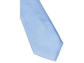 Úzká hedvábná kravata Eterna - světle modrá