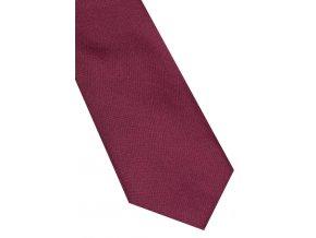 Úzká hedvábná kravata Eterna - bordó